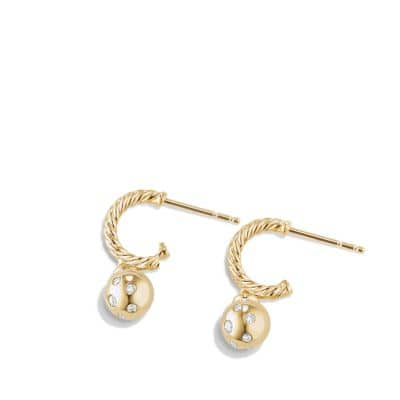 Solari Hoop Earring with Diamonds in 18K Gold