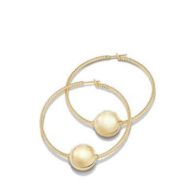 Solari Large Hoop Earrings in 18K Gold