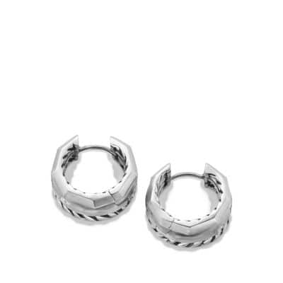 Stax Huggie Hoop Earrings with Diamonds