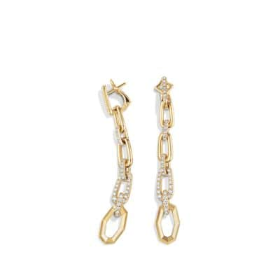 Stax Convertible Chain Link Earrings with Diamonds in 18K Gold