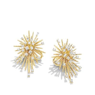 Supernova Climber Earrings with Diamonds in 18K Gold