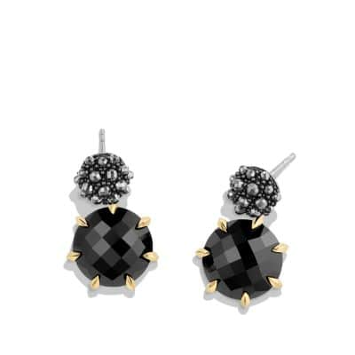 Osetra Drop Earrings with Black Onyx, Hematine and 18K Gold
