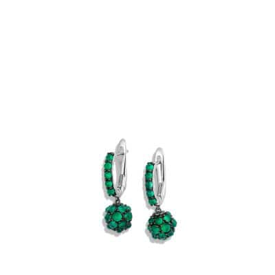 Osetra Short Drop Earrings with Green Onyx