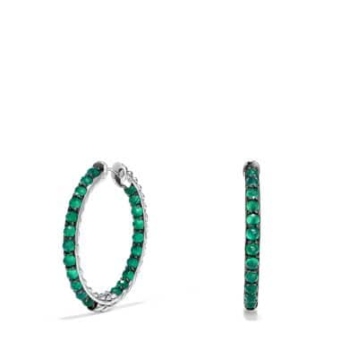 Osetra Hoop Earring with Green Onyx