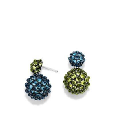Osetra Drop Earrings with Hampton Blue Topaz and Peridot