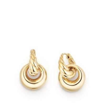 Pure Form® Drop Earrings in 18K Yellow Gold