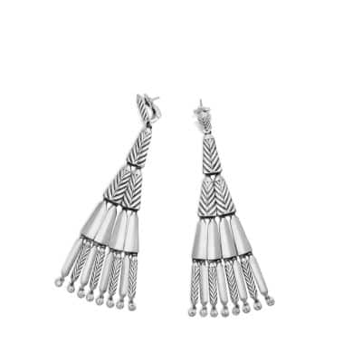 Stax Fringe Earrings with Diamonds