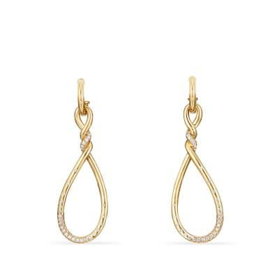 Continuance Large Drop Earrings with Diamonds in 18K Gold thumbnail