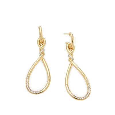 Continuance Large Drop Earrings with Diamonds in 18K Gold