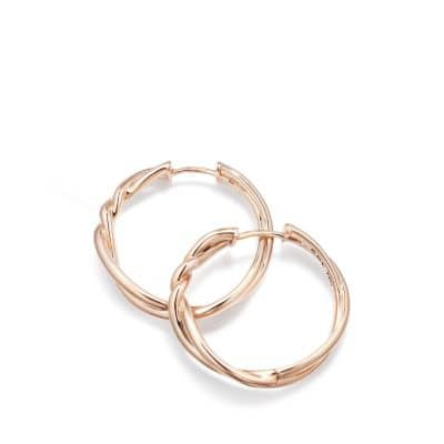 Continuance® Hoop Earrings in 18K Rose Gold