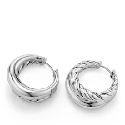 Pure Form Hoop Earrings, 25.5mm