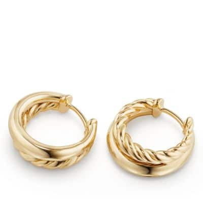 Pure Form Hoop Earrings in 18K Gold, 25.5mm