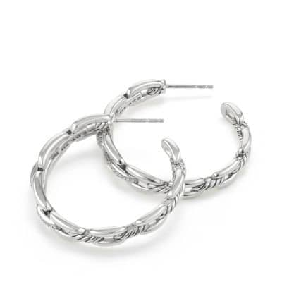Wellesley Link™ Hoop Earrings with Diamonds, 34.5mm