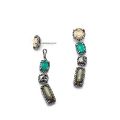 Chatelaine Mosaic Drop Earrings with 18K Gold