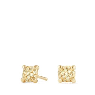 Precious Chatelaine® Stud Earrings with Diamonds in 18K Gold