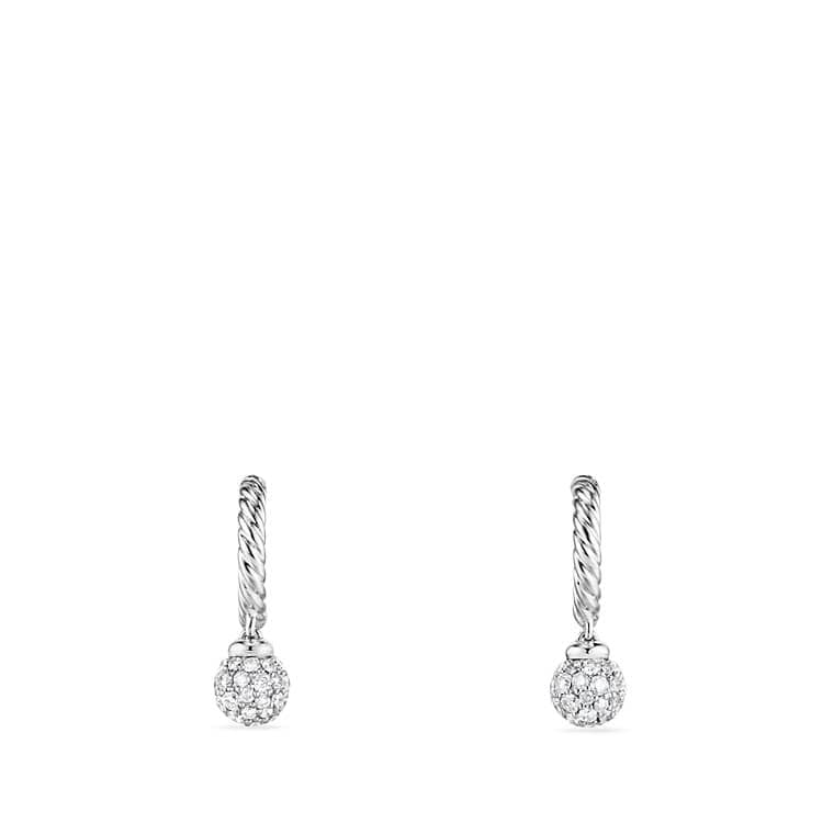 Solari Pave Hoop Earrings with Diamonds in 18K White Gold