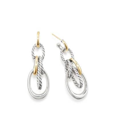 Pure Form Drop Earrings with 18K Gold