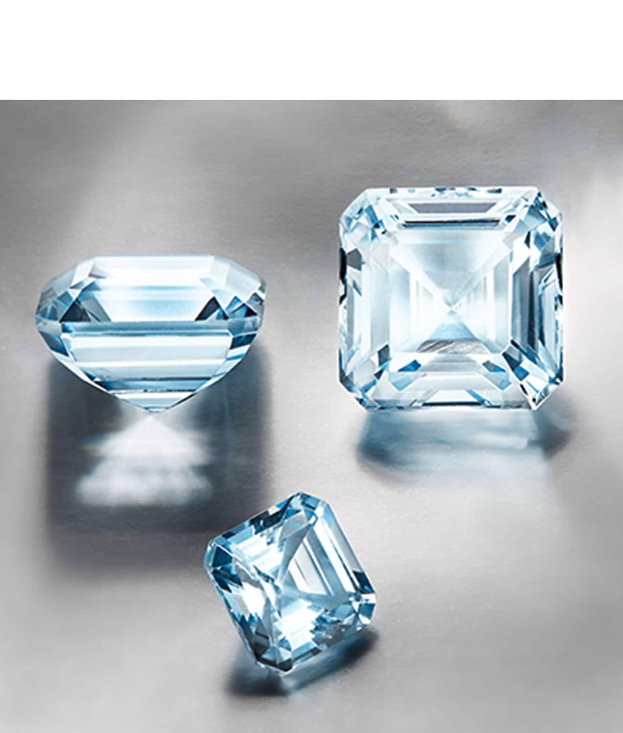 Loose Aquamarine gemstones
