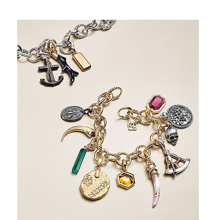 Signature charms and amulets adorned on chains and alone