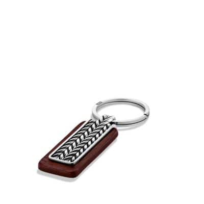 Chevron Key Chain in Brown