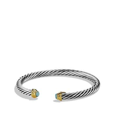 Cable Kids October Birthstone Large Bracelet with Opal and Gold