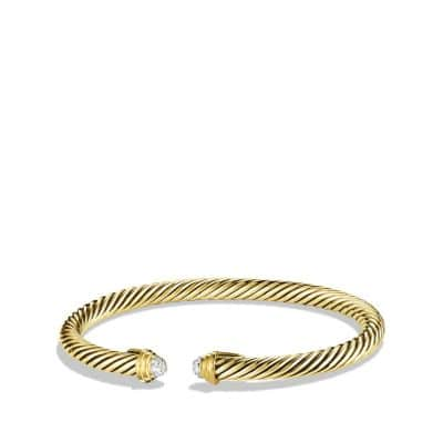 Cable Kids Bracelet with Diamonds in 18K Gold