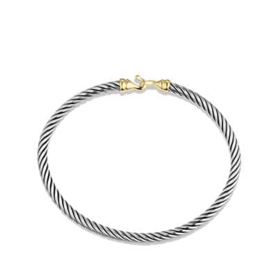 Cable Kids Buckle Bracelet with 18K Gold