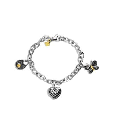 Cable Kids Charm Bracelet with 18K Gold