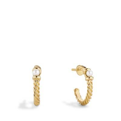 Cable Kids Hampton Pearl Earrings in 18K Gold