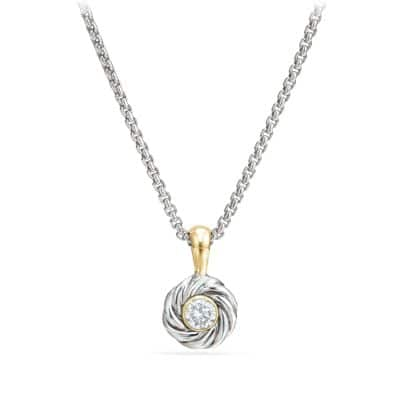 Cable Kids April Birthstone Pendant Necklace with Diamond and Gold