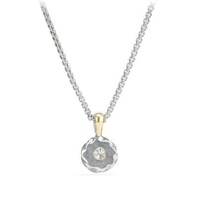 Cable Kids April Birthstone Pendant Necklace with Diamond and 18K Gold