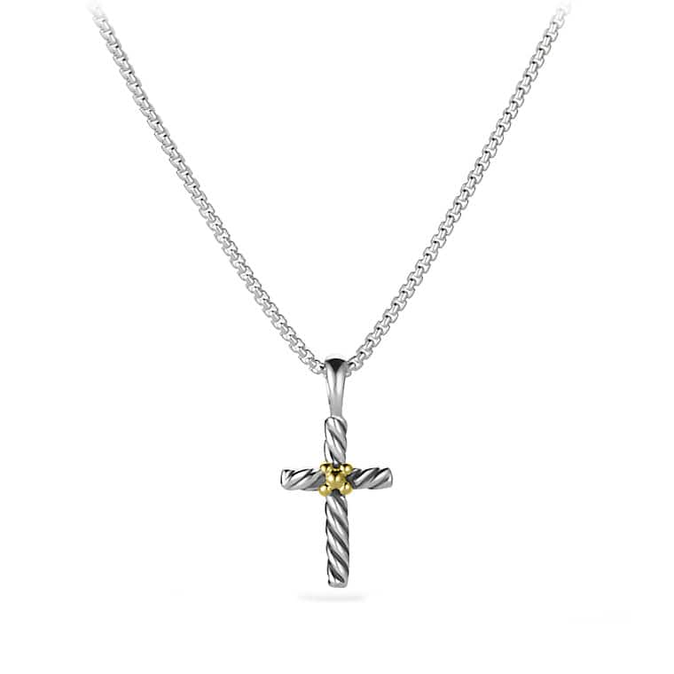 Kids cross necklace with 18k gold cable kids cross necklace with 18k gold mozeypictures Images