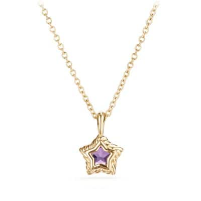 Cable Collectibles® Kids Star Charm Necklace with Amethyst in 18K Gold
