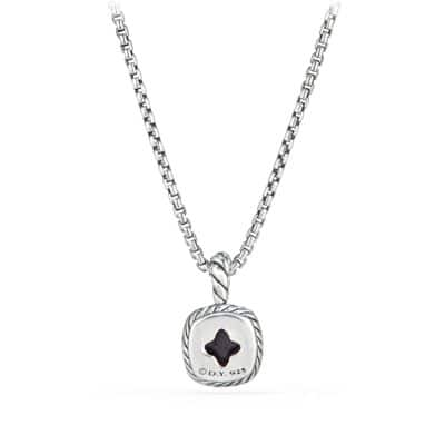 Albion® Kids Necklace with Black Orchid and Diamonds, 4mm
