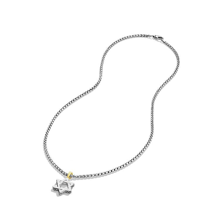 Cable Classics Star of David Necklace with Gold
