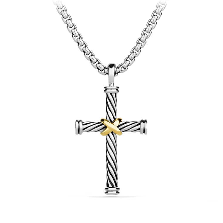 X Cross Necklace with Gold