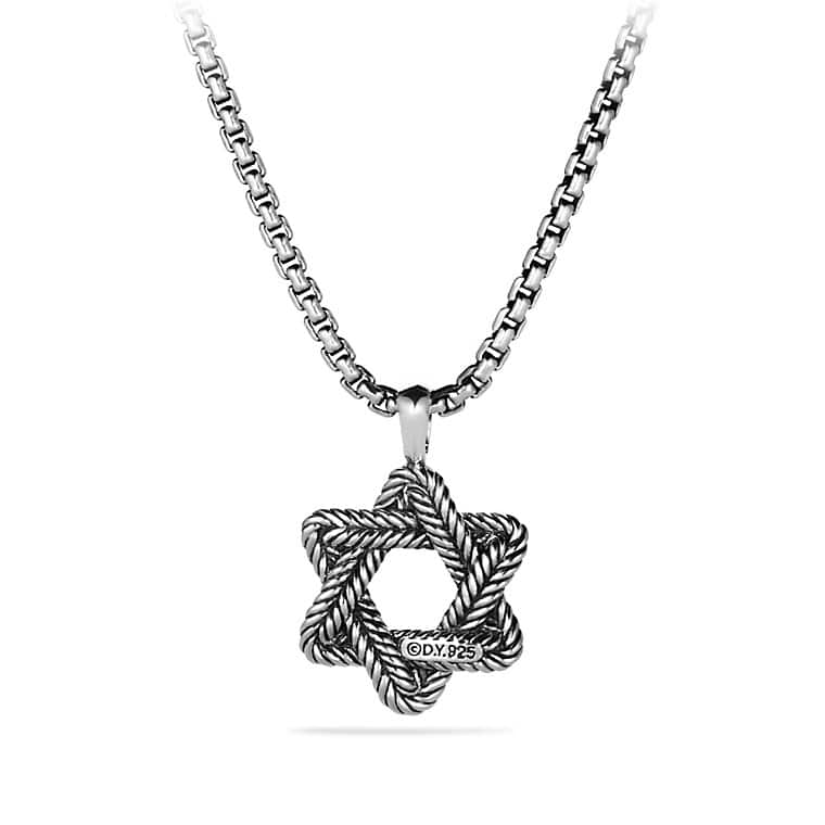 Chevron Star of David Necklace
