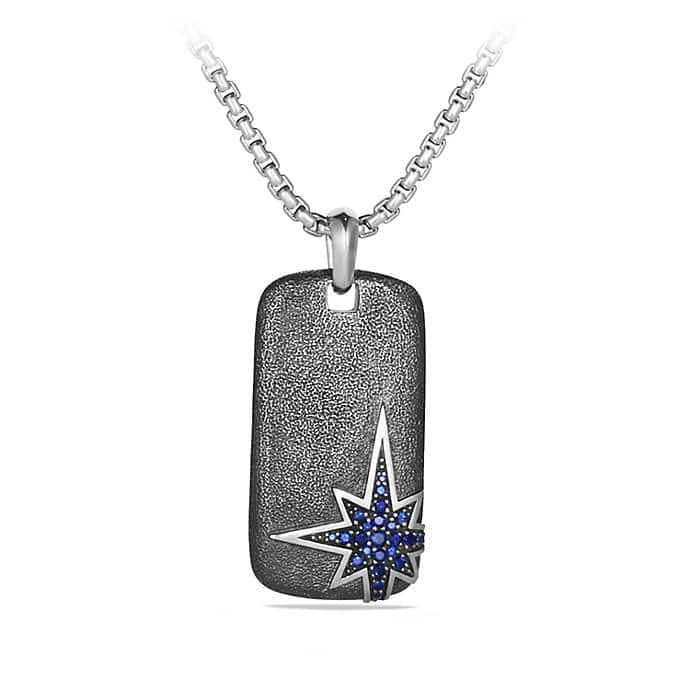 Maritime Tag Necklace with Sapphire