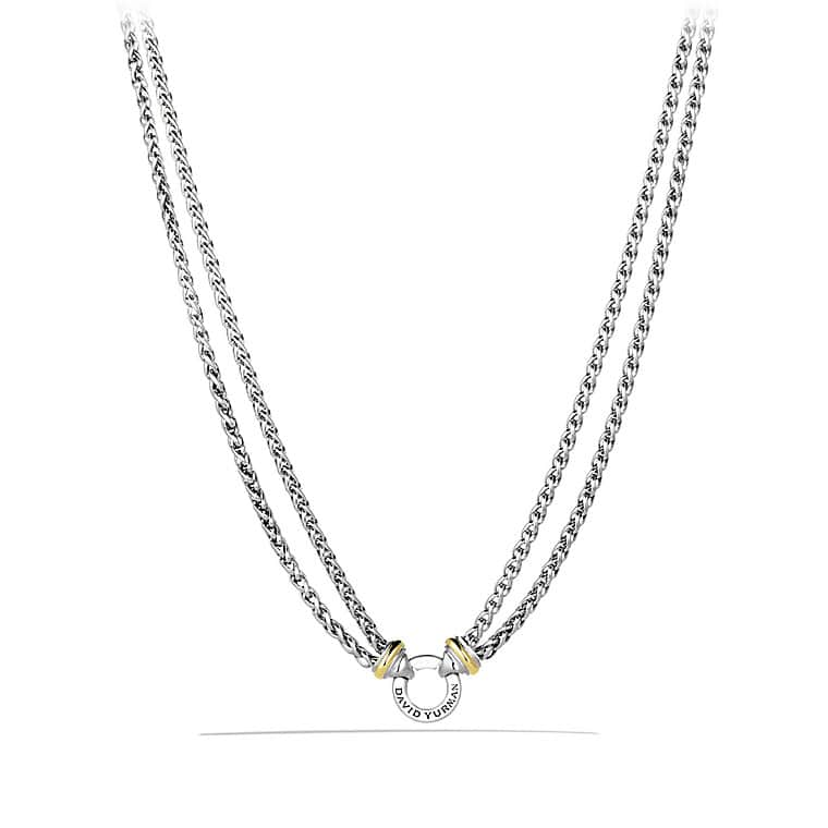 Well-liked Double Wheat Chain Necklace with 18K Gold AV27