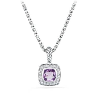 Petite Albion® Pendant Necklace with Amethyst and Diamonds