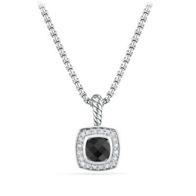 Petite Albion Pendant Necklace with Black Onyx and Diamonds