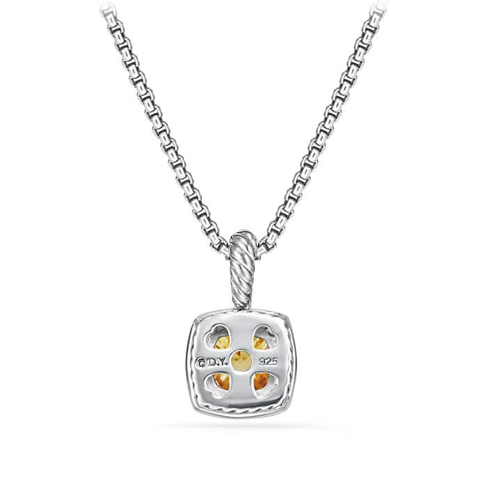 Petite Albion Pendant Necklace with Citrine and Diamonds