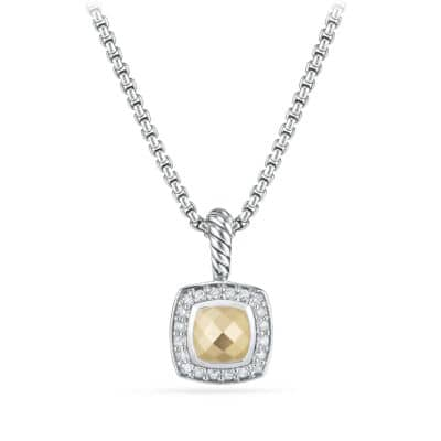 Petite Albion® Pendant Necklace with Diamonds and 18K Bonded Gold