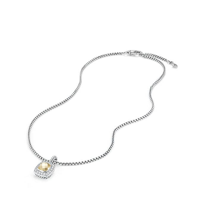 Petite Albion® Pendant Necklace with Diamonds and 18K Gold