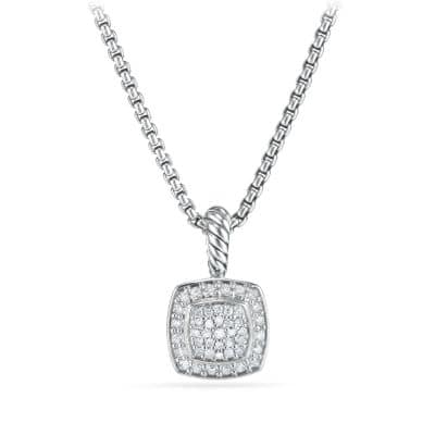 Petite Albion Pendant Necklace with Diamonds