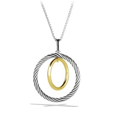 Mobile Pendant Necklace with Gold