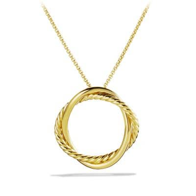 Infinity Medium Pendant Necklace in Gold