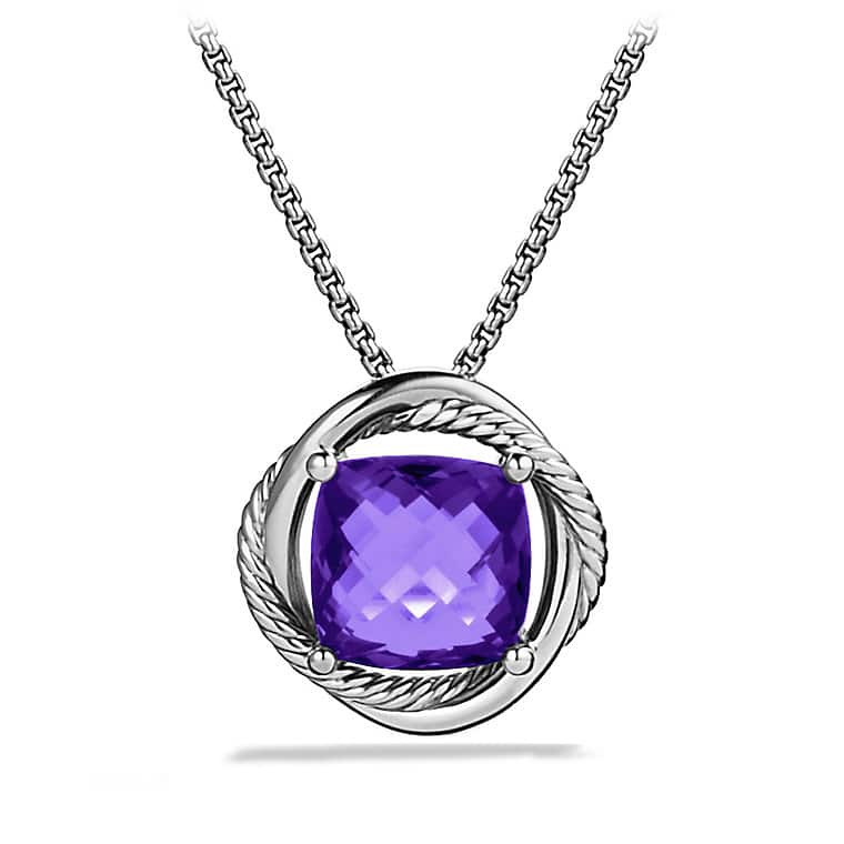 Infinity Medium Pendant Necklace with Amethyst