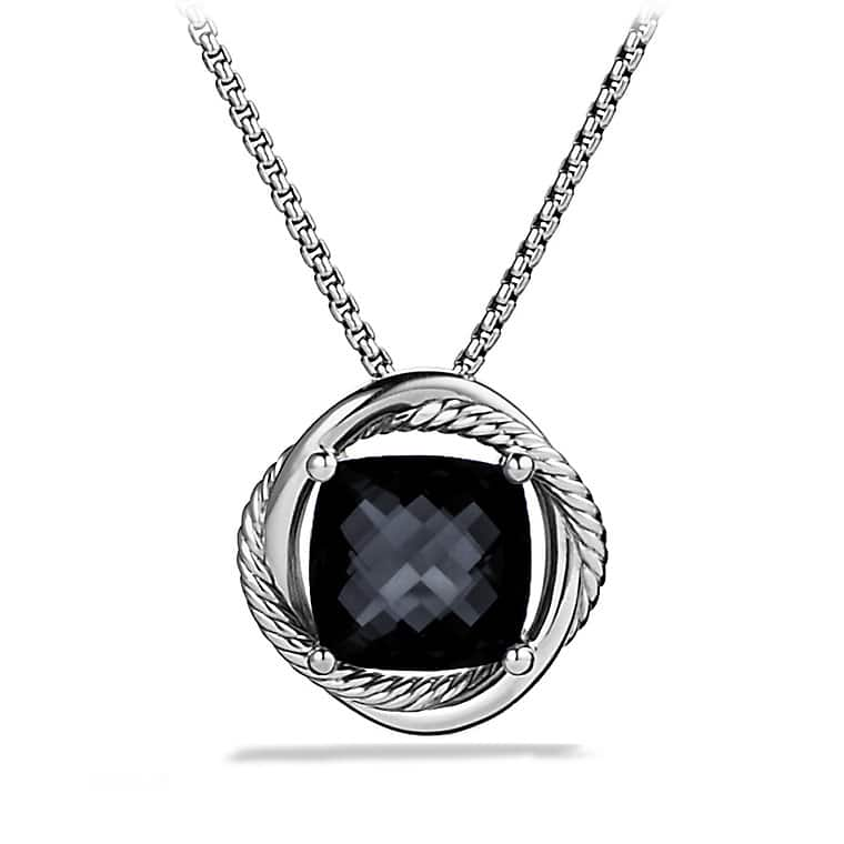 Infinity Medium Pendant Necklace with Black Onyx