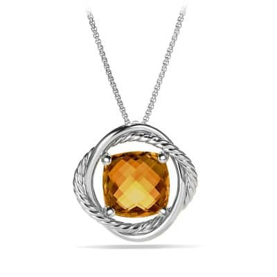 Infinity Medium Pendant Necklace with Citrine